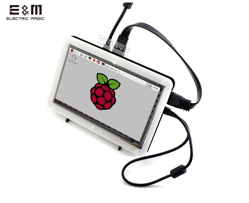 E&M <font><b>7</b></font> <font><b>Inch</b></font> 1024*600 Capacitive Touch IPS Touch Display <font><b>Screen</b></font> LCD Monitor Module HMDI Portable <font><b>Raspberry</b></font> <font><b>Pi</b></font> <font><b>3</b></font> B Windows 10 Linux image