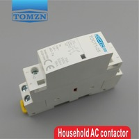 CT1 2P 25A 24V coil 50/60HZ Din rail Household ac Modular contactor 2NO or 1NO 1NC