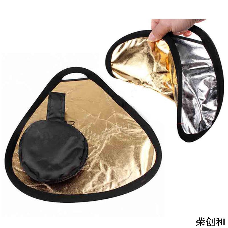 2in1 80cm Gold/Silver Portable Folding Handheld Photograph Reflector With bag Photography Reflector