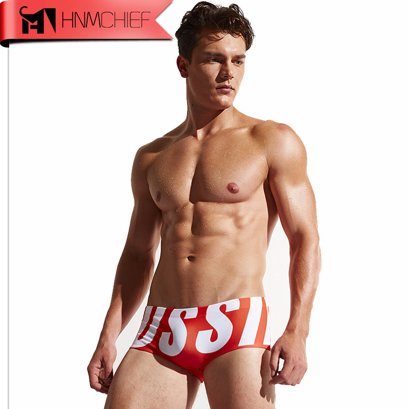 2ac0f15420f54 HNMCHIEF Brand New Gay Mens Swim Briefs Boxers Sexy Letters Swimwear  Swimsuits Top Quality Man Trunks Beachwear Surfing Suit-in Body Suits from  Sports ...