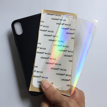 Impressão a laser uv aurora glitter em branco tpu caso capa para iphone 11 12 pro max 6s 6 7 8 plus x xs xr xs max se 2020 10 pçs