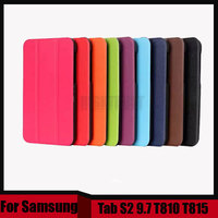 Fashion Top Quality Smart PU Leather Cover For Samsung Galaxy Tab S2 9 7 T810 T815