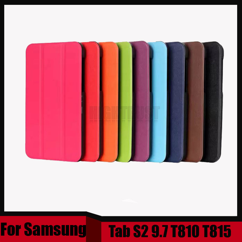 3 in 1 Fashion Top Quality Smart PU Leather Cover for Samsung Galaxy Tab S2 9.7 T810 T815 Tablet Case + Stylus + Screen Film