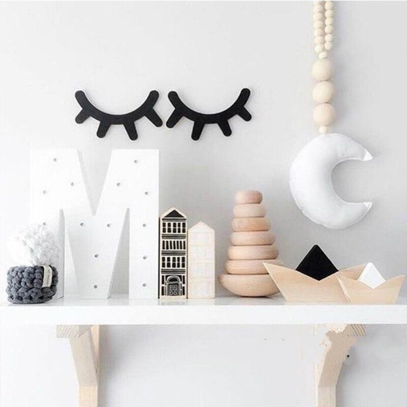 Koop leuke wimper babykamer decoratie muurstickers wiegen kamer kinderkamer - Babykamer decoratie ...