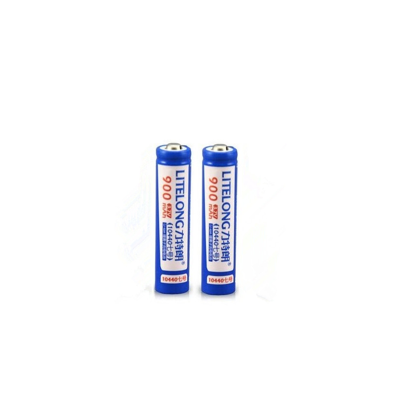 2pcs High power 3.7v 900MAH AAA rechargeable battery 10440 lithium battery flashlight rechargeable battery image
