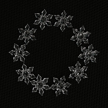 20PCS/Pack Christmas Snowflake Shape Clear Crystal Acrylic Rhinestone Flatback Cabochon DIY Decorative Craft Scrapbooking Decor