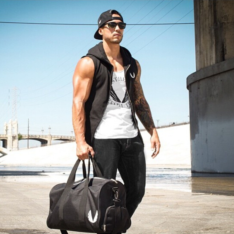 c3915dc7ba389 2017 Hot Summer Casual Tank Top Men Hooded Bodybuilding Shirt Fitness  Elistic Quality Fashion Men Outwear Sleeveless Clothing-in Tank Tops from  Men's ...