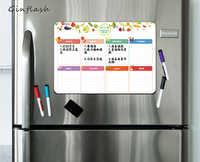 21*28cm Soft Fridge Flexible pet light Whiteboard Message Board Magnetic Note Refrigerator waterproof 1marker&2button