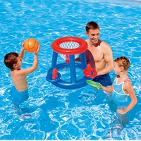 Unisex Water basketball hoop Swimming Pool Accessories Inflatable Float Air Mattress Water game play toys for kid Water Fun Ball