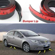 Автомобильный передний губной дефлектор губы юбка для Тойота авенсис Камри RAV4 Prado Corolla YARIS для рамы корпуса боковая защита/спойлер для губ