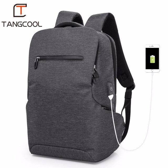 """2019 de Moda de Nova Tangcoo Homens Marca 15.6 """"Laptop Mochilas de Viagem Mulheres Sacos de Ombro de Lazer Mochilas Escolares Meninos de Carregamento USB"""