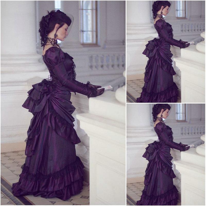 SC-1190 Victorian Gothic/Civil War Southern Belle Ball Gown Dress Halloween Theater Edwardian dresses Sz US 6-26 XS-6XL
