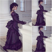 SC 1190 Victorian Gothic/Civil War Southern Belle Ball Gown Dress Halloween Theater Edwardian dresses Sz US 6 26 XS 6XL