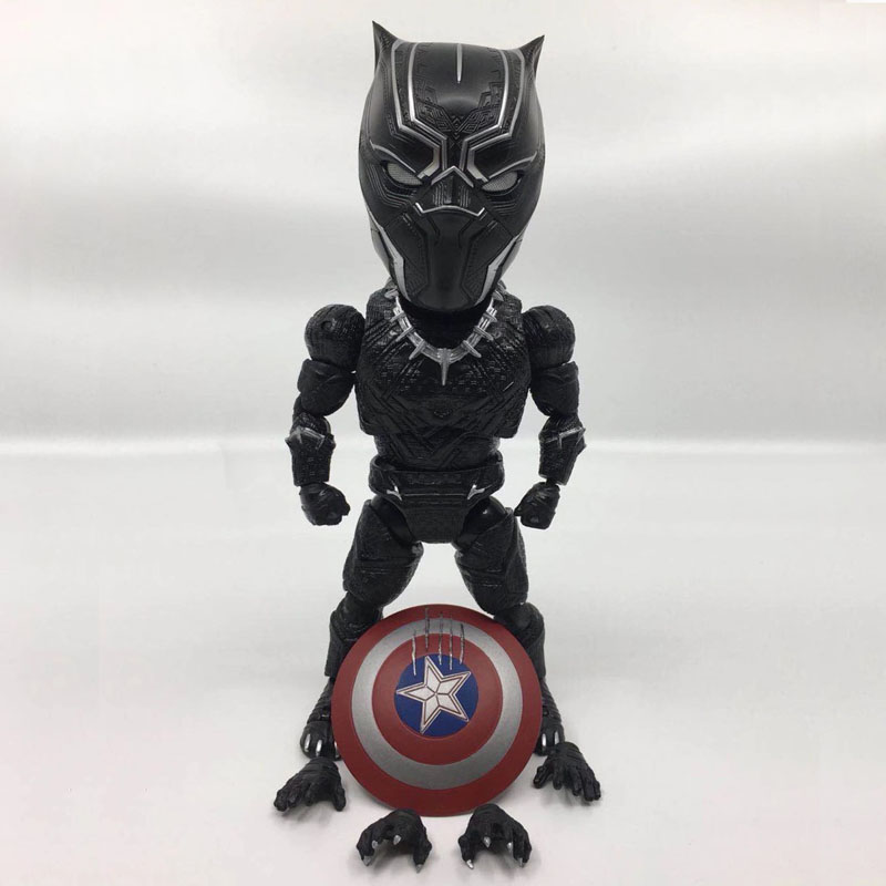 Free Shipping Cute 7 Super Hero Black Panther EAA-033 Moveable Boxed 18cm PVC Action Figure Collection Model Doll Toys Gift dc comics super heroes superman pvc action figure collectible model toy gift for children 7 18cm free shipping