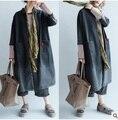 Осенью 2016 новые продукты, национальный ветер оригинальный дизайн деним свободные большой ярдов Женщин пыли пальто