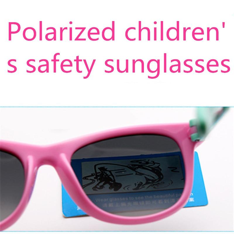 ASUOP 2019 Baru Anak-anak Silika Kacamata Lembut Polarisasi Persegi - Aksesori pakaian - Foto 5