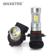 2x Car Fog Led Lights Bulb H8 H11 Led HB4 9006 HB3 9005 H16 EU 1200LM 6000K 4300K Warm White Auto Driving DRL Replace Light 12V(China)