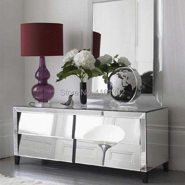 High Quality MR 401024 Beveled Edged Mirrored Storage Chest