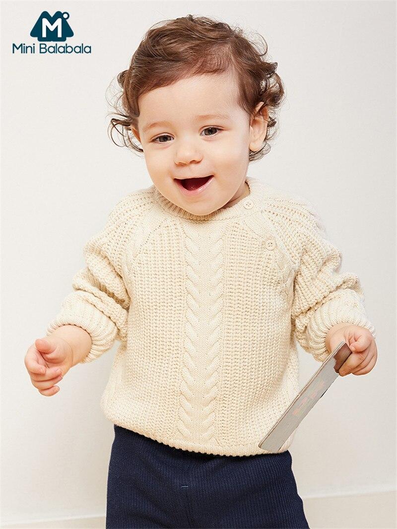 71b185cc1992 Mini Balabala Baby Graphic Ribbed Knit Sweater Tops Long Sleeve ...