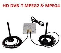 Araba dvd oynatıcı radyo stereo gps navigasyon dijital tv alıcı kutusu hd dvb-t mpeg4 mpeg2 sinyali hem ile dual anten