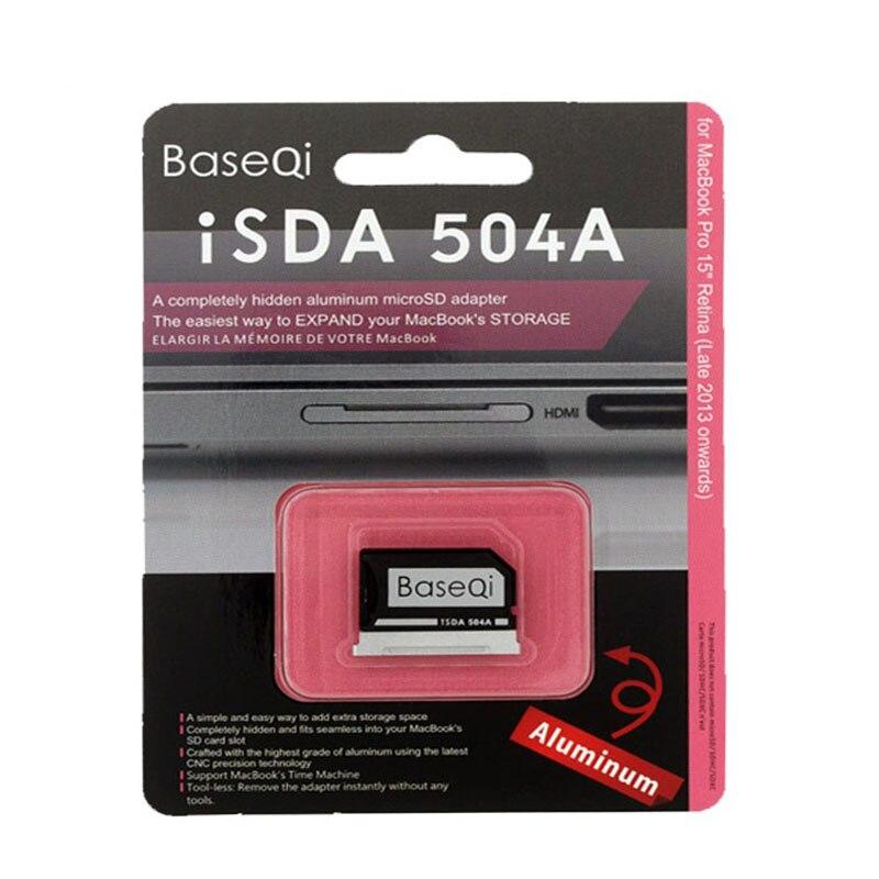 Adaptateur de carte mémoire Micro SD / TF BaseQi Aluminium Stealth Drive Lecteur de carte SD pour MacBook Pro Retina 15 pouces (fin 2013-mi 2015)