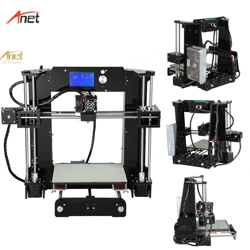 Anet A6 Top Performance 3d Drucker 12864 LCD Screen Acrylic Lead Screw Impressora 3d Plus Size