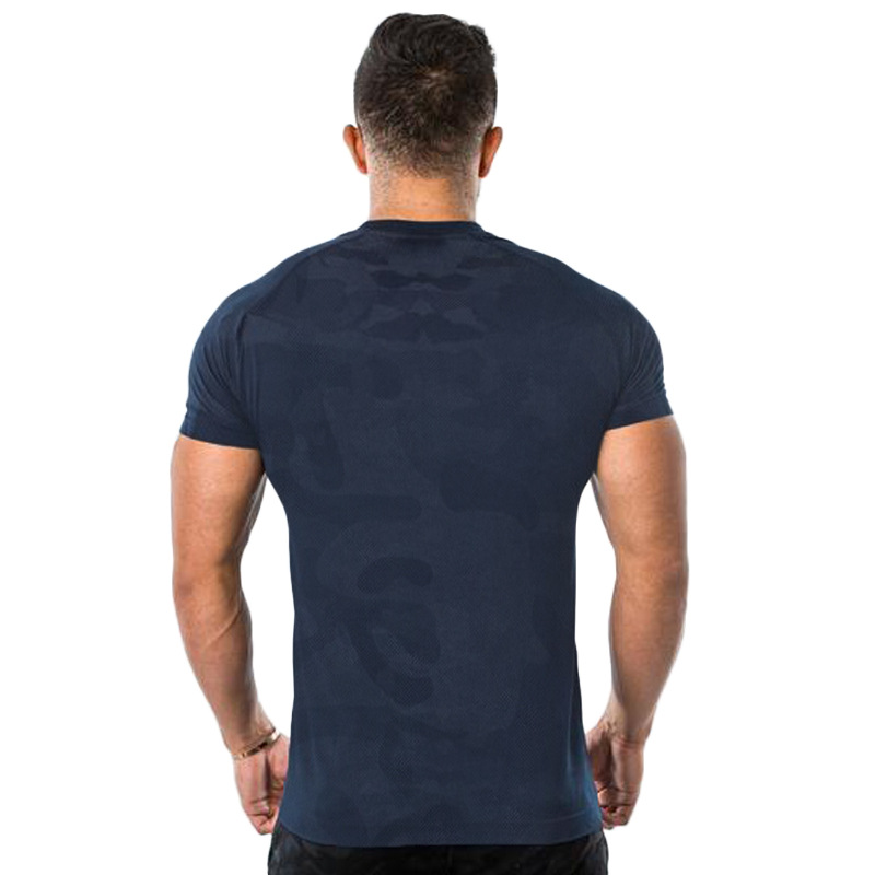 2019 men 39 s new short sleeved T shirt camouflage short sleeved gym fitness exercise men 39 s casual fashion brand T shirt top in T Shirts from Men 39 s Clothing