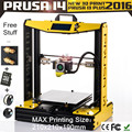 2 KG filamento + tarjeta sd más populares! montado 3D impresora de una sola grupos de máquina de replicador PLA / ABS prusa i4 impresora 3D in china