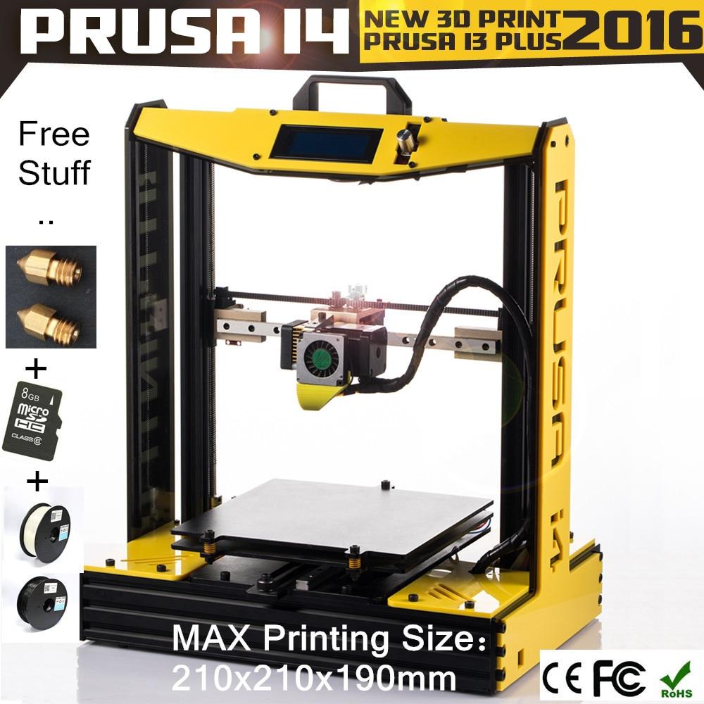 Prix pour 2016 Sunhokey Acrylique Couleur En Option Prusa I4 Semi-DIY 3D Imprimante Machine 2 KG Filament + Carte Sd + Buses 3D Imprimante Prusa i4