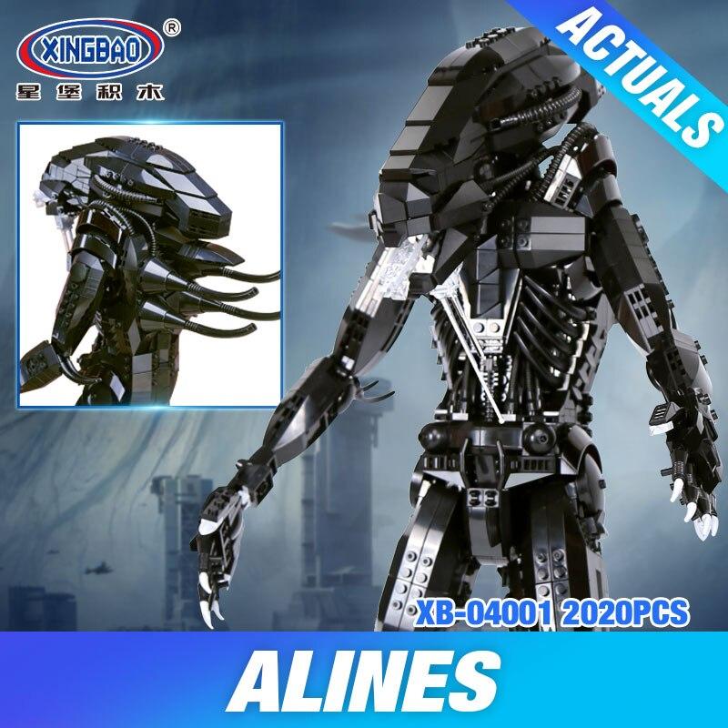 XingBao 04001 Block 2020Pcs Genuine Creative Movie Series The Alien Robot Set children Educational Building Blocks Bricks Toy
