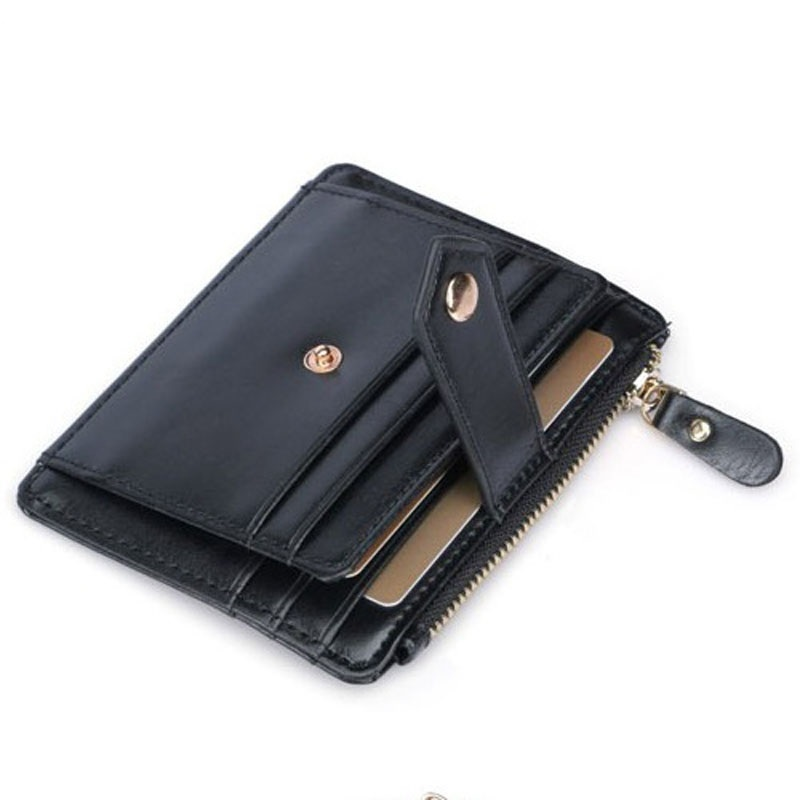 weduoduo Hot Sell Men Slim Card Holder Fashion Men 39 s Credit Card Holder Mini Card Wallet Small Coin Pocket With Photo Pocket in Card amp ID Holders from Luggage amp Bags