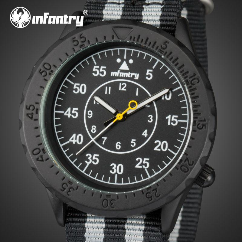 INFANTRY Men Quartz watches Aeronautica Military Luminous Sports Watches Marine Corps Nylon Wristwatches Clock Relogio Masculino