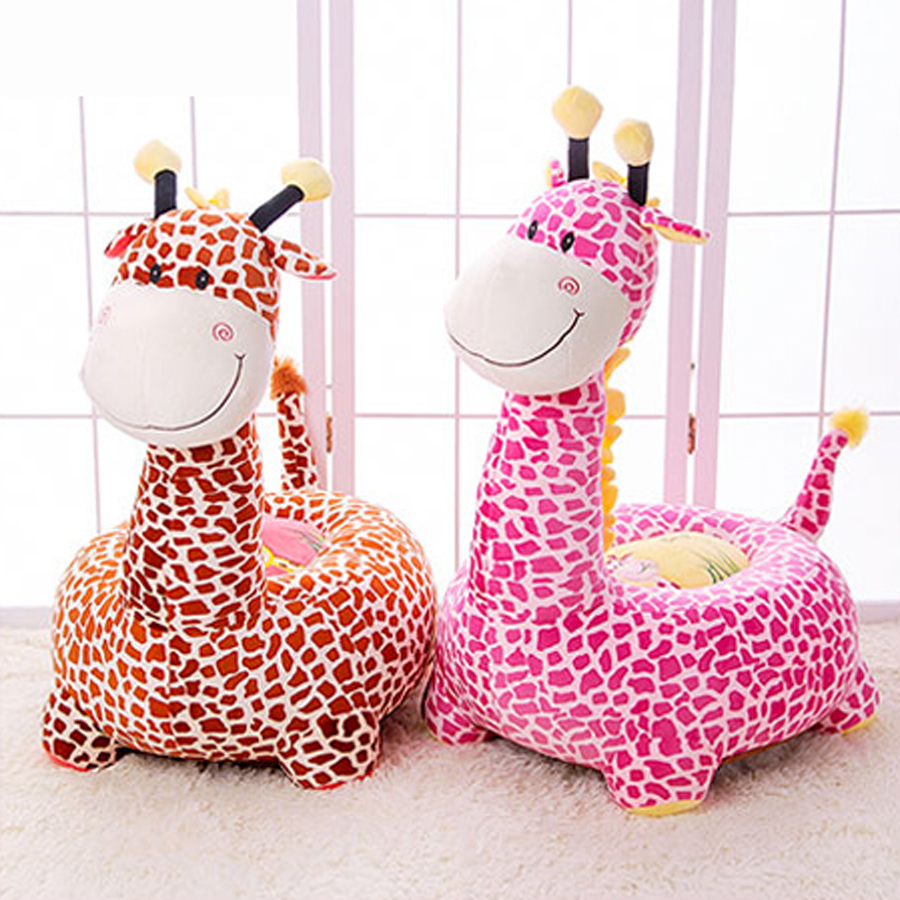 Animal Plush Toys Baby Doll Cute Children Sofa Giraffe Pink Plush Oyuncak Bebek Soft Toy Almofada Infantil Toys For Girls 60G389 4 colors pusheen plush cute soft animal toy giraffe plush doll birthday gift toys for children 18cm baby dolls free shipping