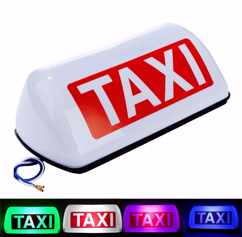 ZYHW Brand Hard plastic making magnetic taxi light 12v Led taxi roof light blue pink red green
