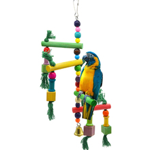 1Pcs Parrot toys Birds Toys Runners Swing Steps Stairs Ladder Staircases Stair Climbing Frames Bird cage toy accessories