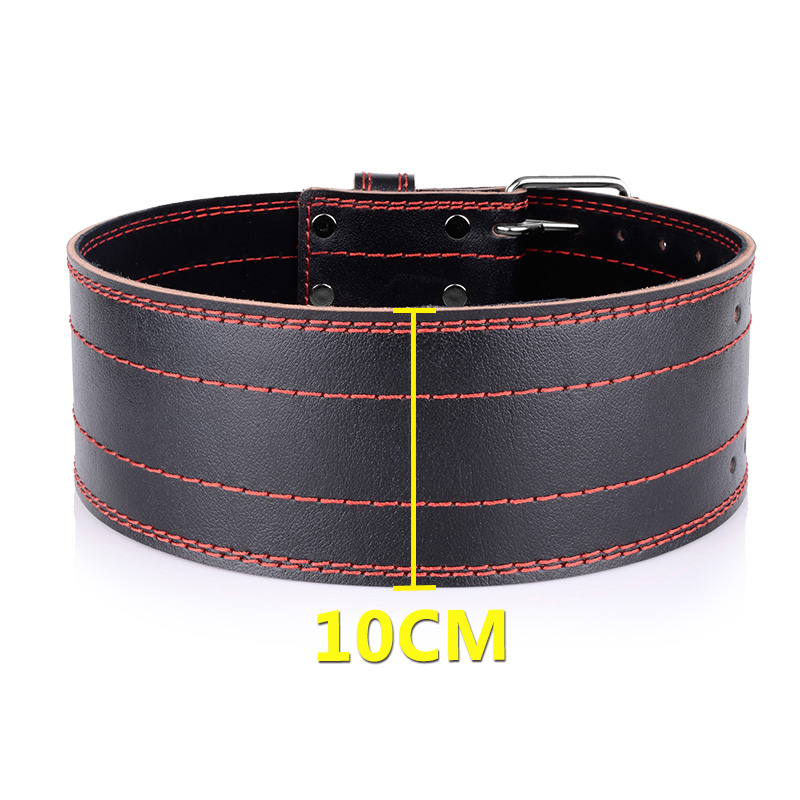 Weightlifting Cowhide Leather Belt Gym Fitness Crossifit Weight Lifting Back Support  Power Training Blet Equipment