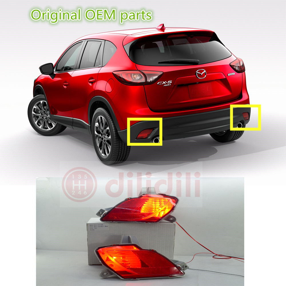 Rear bumper Fog Lights lamp kit for Mazda CX-5 cx 5 2013-2016 oem fog lights halogen lamp kit for 2016 mazda cx 5 ka0h v4 600