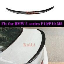 For BMW M4 Style F10 Spoiler 2010 - 2016 5 Series Sedan F10 Carbon Spoiler F10 M5 Rear Trunk Wings Spoiler f10 5 series
