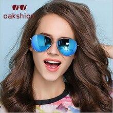 Oakshion Nova Moda Das Mulheres Dos Homens Óculos De Aviador Quadro  Oversized Mercúrio Lente de Proteção UV400 Shades Oval Óculo. 8ca39eda7b