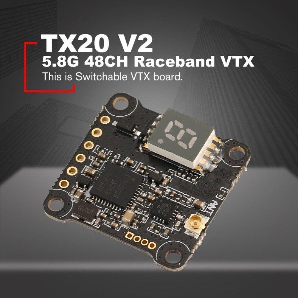 HGLRC XJB TX20 V2 Mini 5.8G 48CH PIT/25mW/100mW/200mW/350mW Switchable VTX FPV Transmission Raceband for RC Racing DroneHGLRC XJB TX20 V2 Mini 5.8G 48CH PIT/25mW/100mW/200mW/350mW Switchable VTX FPV Transmission Raceband for RC Racing Drone