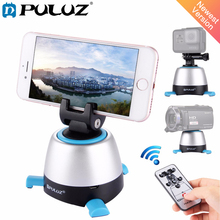 PULUZ Electronic 360 Degree Rotation Panoramic Tripod Head with Remote Controller Rotating Pan Head For Smartphones, GoPro, DSLR
