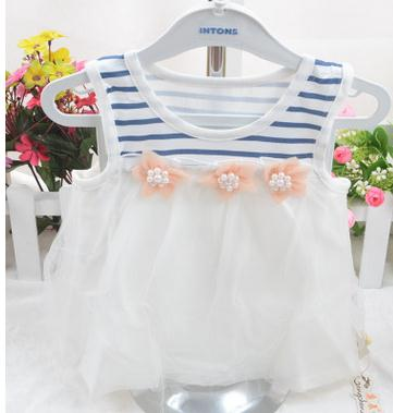 2017 Infant clothing baby girl clothing princess dress summer new sleeveless dress cake newborn baby girl
