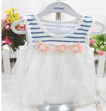 2017 Infant clothing baby girl clothing princess dress summer new sleeveless dress cake newborn baby girl dresses XC1120