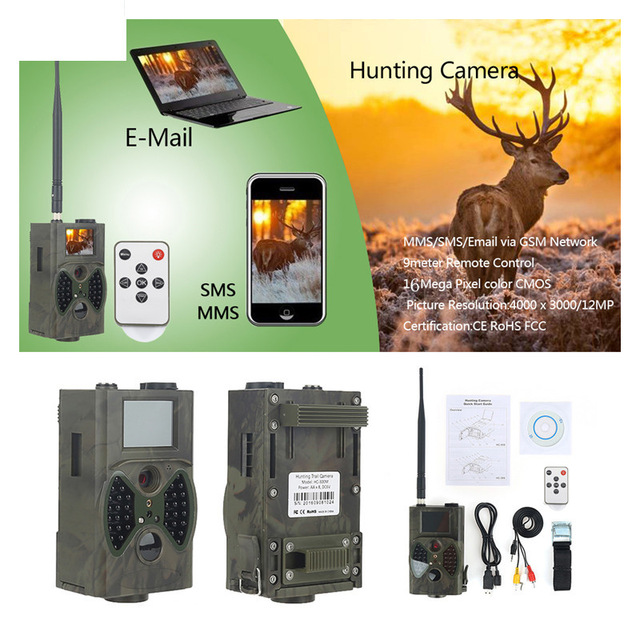 HC350M HD 0.5S 16MP Trail Wildlife Camera GSM MMS GPRS SMS Control Scouting Infrared Wildlife Hunting Camera HC 350M HC-350M 12mp trail camera gsm mms gprs sms scouting infrared wildlife hunting camera hd digital infrared hunting camera