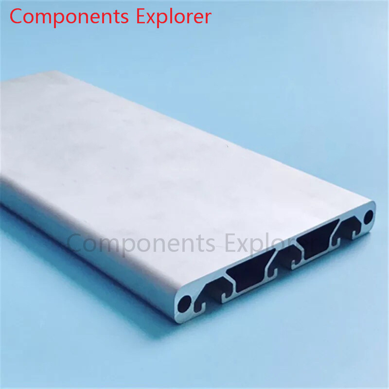 Arbitrary Cutting 1000mm 16120G Aluminum Extrusion Profile,Silvery Color.