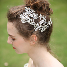 Crystal Headband Bridal Hair Accessories Wedding Headband Flower Pearl Wedding Hair Jewelry Bride Tiara Rhinestone Headband Girl
