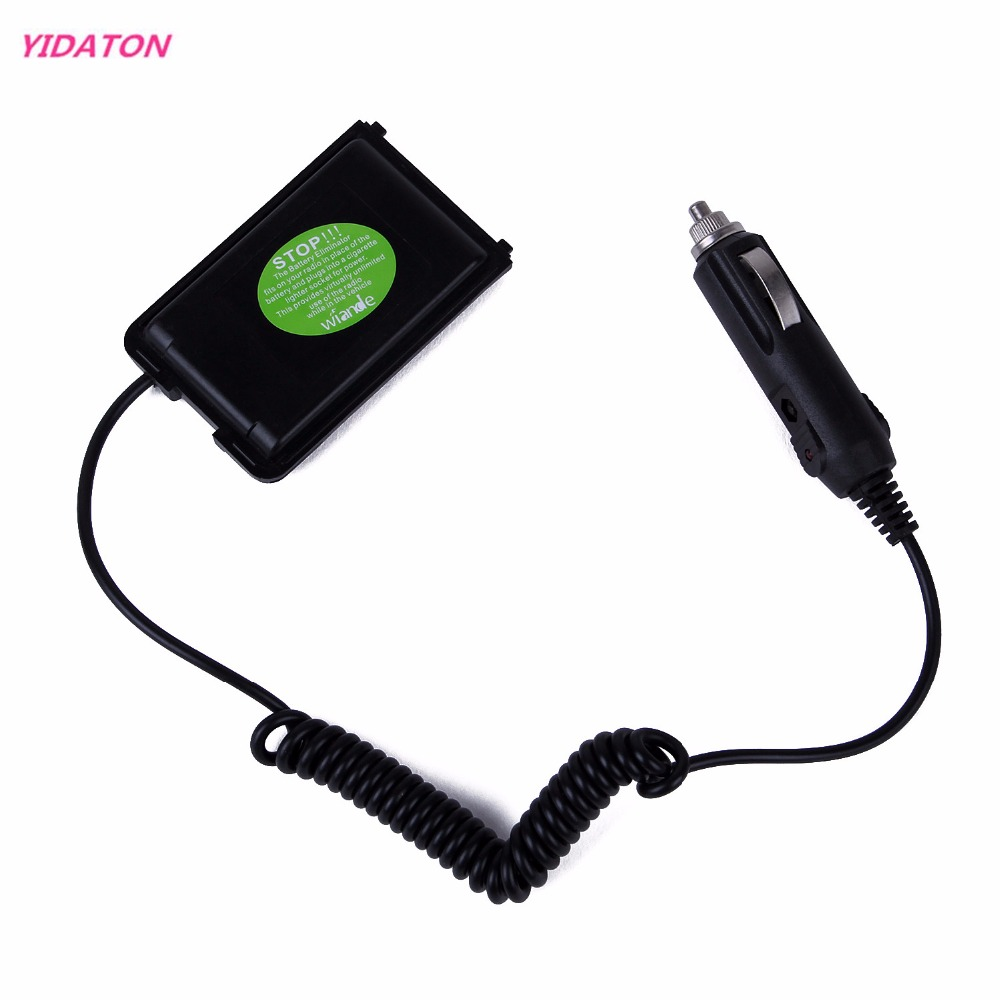 YIDATON Two Way Radio Battery Eliminator Car Charger Adapter For Walkie Talkie Quansheng Ham Radio TG-UV2 TG-UV For Travelling