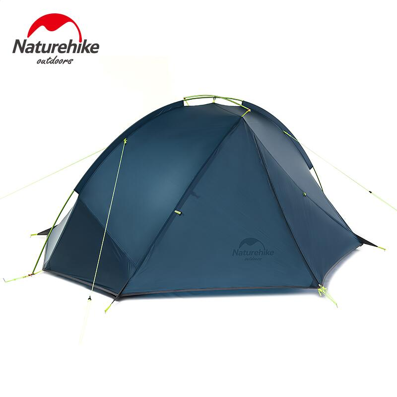 Naturehike 2 Person ultralight Tent 20D Silicone 3 Season aluminum pole waterproof Outdoor Camping tent professional hiking tent 995g camping inner tent ultralight 3 4 person outdoor 20d nylon sides silicon coating rodless pyramid large tent campin 3 season