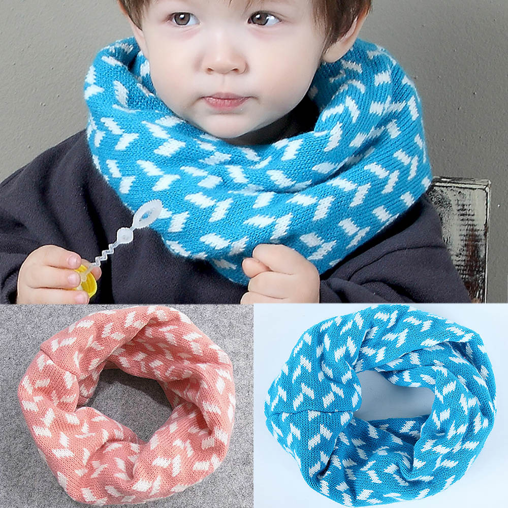 Apparel Accessories Kids Winter Warm Scarf Baby Boy Girl Christmas Plush Knitted Snood Shawl Ring Neck Wraps Scarves For Children