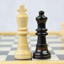 Természetes fa sakk kis / közepes / nagy / király sakk játék asztali minőségű fa ajándék hordozható sakktáblát gyermek szórakoztató hő